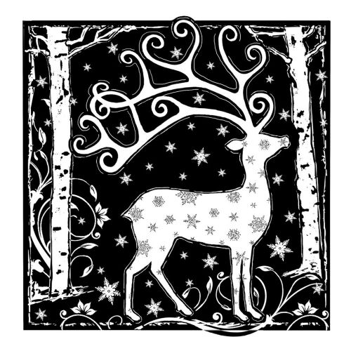 Magical Reindeer Crafty Individuals Stamp (CI-358)
